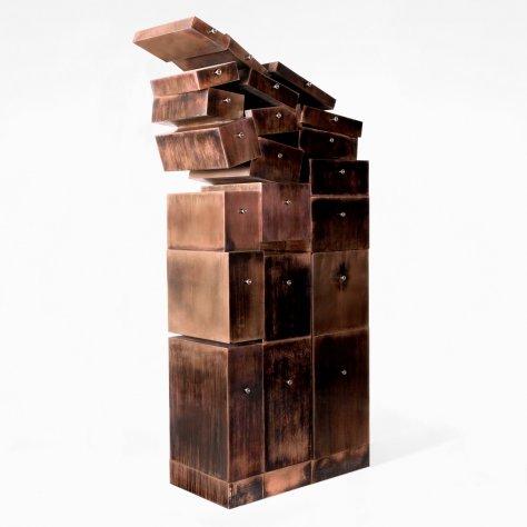 Grande Volute Cuivree Sculpture Erwan Boulloud